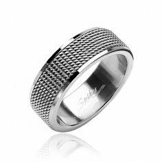 Herren Damen Edelstahl Band Ring Silber Farben Ketten Screen Design Style | eBay
