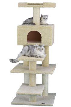 Go Pet Club Premium Carpeted Cat Tree Furniture - Cat store galore