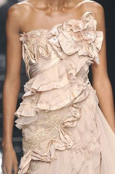 Detail of Elie Saab haute couture