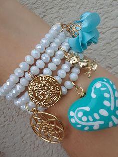 Arm Candy Bracelets, Fashion Bracelets, Bangle Bracelets, Fashion Jewelry, Hand Jewelry, Wire Jewelry, Jewelry Gifts, Denim Bracelet, Leather Necklace
