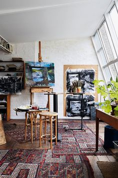 Formerly owned by Howard Hodgkin, who had his studio in the attic, this Victorian house in west London has a bohemian history, which the current artist owner has carefully maintained, while introducing the comforts of a family home
