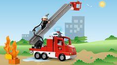 LEGO® DUPLO® - Camión de Bomberos%0d%0a¡Emergencia! Acude al incendio, usa la escalera extensible con cesta para rescatar a alguien de un rascacielos y apaga el fuego. ¡Todo lo que necesitas para salvar el día!