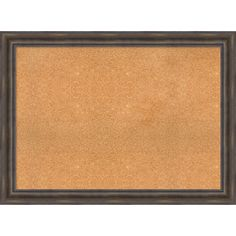 Framed Cork Board, Choose Your Custom Size, Rustic Pine Wood (48 x 32-inch), Brown