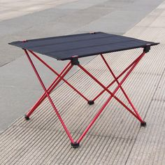 Milestone Camping Table pliante en aluminium Noir