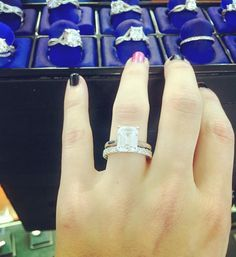 This is my favorite engagement ring! A gorgeous Emerald Cut in a Tacori…