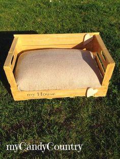creare cuccia per cani o gatto, da una cassetta di legno