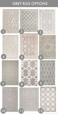 24 Grey Rug Options (Honey We're Home) New Living Room, My New Room, Home And Living, Living Room Decor, Bedroom Decor, Grey Rugs, Floor Rugs, Rugs On Carpet, Home Accessories