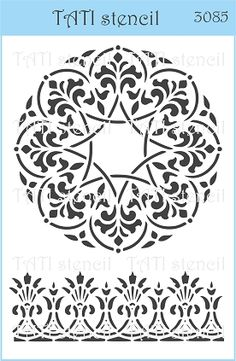 Трафарет объёмный TATI stencil 3085. цена: 29.00 UAH. - А6, 15 х 10 см. Трафареты TATI stencil Hobby & Decor - товары для рукоделия