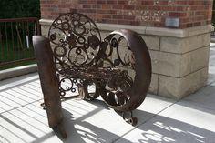 Chair sculpture at Bozeman Public Library, Chair sculpture at Bozeman Public Library