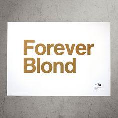 Printed on the MetaPaper Rough Warm White 160 gsm in Gold ink. From original wood type on our Korrex Frankfurt, cm. Gold Ink, Letterpress, Berlin, Workshop, Cinema, Typography, Frankfurt, Blond, Prints