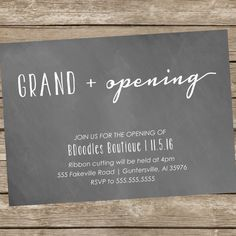 Printable Grand Opening or Open House by BDoodlesDesigns on Etsy