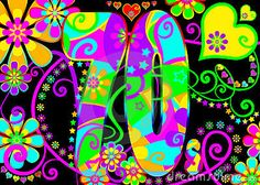 Vintage psychedelic 70s party  by Melonstone, via Dreamstime #Metrocenter40th