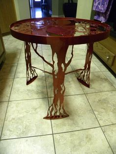 Tree of Life End Table by VanMetalArts on Etsy
