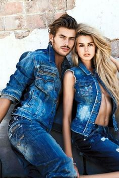 Vanessa Hessler At Guess Accessories Campaign Candice Swanepoel Couple Photoshoot Poses, Couple Posing, Couple Shoot, Guess Jeans, Denim Fashion, Fashion Models, Modelos Guess, Guess Models, Fashion Couple