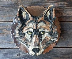 Wolf face character cake, raw vegan gluten-free cake, by Sweet Little Sirin