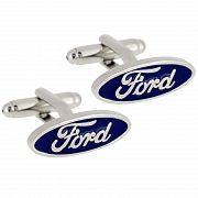 Silver Ford Logo Cufflinks Automotive Car Cuff Links