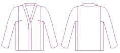 Fit for Art Tabula Rasa jacket Jacket Pattern, Top Pattern, Pattern Art, Art Patterns, Vintage Sewing Patterns, Tabula Rasa, Kimono Fashion, Body Shapes, Kaftan