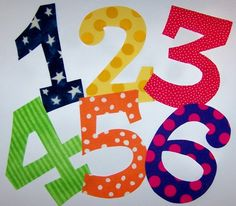 Fabric Applique TEMPLATE Pattern ONLY Full SetNUMBERS by etsykim, $6.00