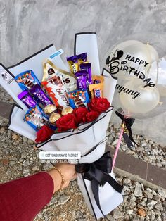 Order or enquiry's please Whatsapp us No : We provide delivery for Penang Kedah Kl Selangor (Selected Area) Diy Birthday Box, Cute Birthday Gift, Birthday Gift Baskets, Birthday Gifts For Girls, Food Bouquet, Gift Bouquet, Candy Bouquet, Chocolate Bouquet Diy, Cute Couple Gifts