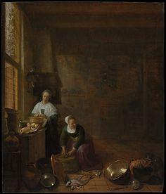 """A Kitchen""  --  Circa 1643  --  Hendrick Sorgh  --  Oil on wood  --  The Metropolitan Museum of Art, New York"