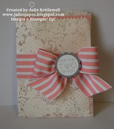 Stampin' Up! UK Independent Demonstrator - Julie Kettlewell: Something Lacy Technique Projects