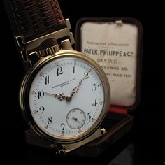 Mens 1907 PATEK PHILIPPE & CO Vintage PRECISION GOLD Watch CHRONOMETER-	 Mens 1907 PATEK PHILIPPE & CO Vintage PRECISION GOLD Watch CHRONOMETER  This timepiece was made by the venerable PATEK PHILIPPE & Company features ORIGINAL PORCELAIN DIAL with GOLD HANDS, GOLD PLATED CASE and signed