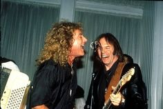 Robert Plant, Neil Young and an accordion. Neil Young, Great Bands, Cool Bands, Robert Plant Led Zeppelin, Rockn Roll, Jimmy Page, Music Icon, Music Music, Forever Young