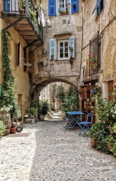 Coaraze, Provence-Alpes-Côte d'Azur, FranceCoaraze, Provence-Alpes-Côte d'Azur, FranceRestored House in France Oh The Places You'll Go, Places To Travel, Beautiful World, Beautiful Places, Beautiful Streets, Vila Medieval, Ville France, Photos Voyages, Provence France