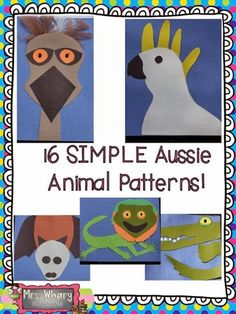 Hi everyone, We're settling in to our new life in Australia.I have a NEW Kindergarten teaching position that I will start next. Australia Crafts, Australia Day, Visit Australia, Animal Activities, Activities For Kids, Science Activities, Australia Animals, Animal Crafts For Kids, Thinking Day