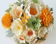 Papel flor Bouquet papel ramo ramo de por morepaperthanshoes