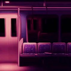 Train over the city pink lights day and night synthwave new retro wave songs playing in the back