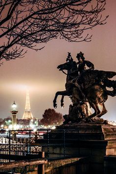 Eiffel Tower, Paris, by night