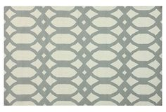 One Kings Lane - Ready Your Rooms - Cyra Flat-Weave Rug, Light Gray