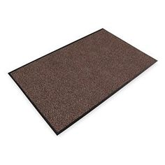 Entrance Mat, Brown, 5/16 In, 3 ft x Custom by Notrax. $17.09. Entrance Mat, Heavy Traffic, Material Decalon Yarn, Vinyl (Backing), Brown, Length Custom, Width 3 ft., Thickness 5/16 In., Heavyweight Vinyl Non-Slip Backing, Design Looped Pile, Construction Combination Of Scraping And Looped Pile Drying Yarns In A Linear Pattern, To Facilitate The Scraping Function And Begin The Drying Process