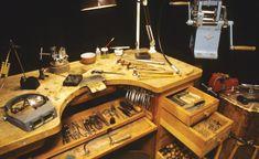 alan revere professional jewelry making   Alan Revere's bench as shown in Professional Jewelry Making.