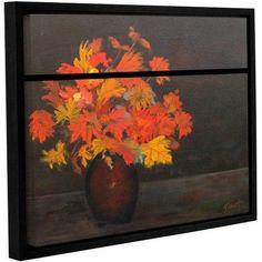 ArtWall Gene Foust Still Life Gallery-Wrapped Floater-Framed Canvas, Size: 24 x 32, Orange