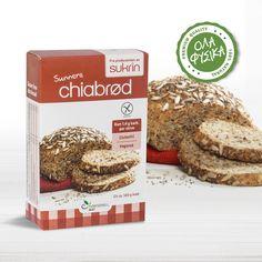 Sukrin Chia Bread Mix -250gr. Το Chia bread mix της Sukrin είναι ένα μείγμα έτοιμο για ψήσιμο, με το Superfood Chia και σπόρους κάνναβης. Προσθέστε μόνο νερό και ψήστε στο φούρνο, απολαμβάνοντας ψωμί με υπέροχη γεύση, χορταστικό και με ελάχιστους υδατάνθρακες! Bread Mix, Low Carb Bread, Banting Bread
