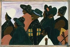 Jacob Lawrence - The Migration of the Negro Panel no. 35