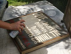 Awesome tutorial on how to make vintage wooden signs and properly seal them.
