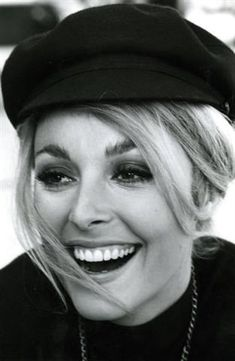 Sharon looking radiant during a break from filming Eye Of The Devil in France in 1966. Initially Kim Novak was the female lead but after most of the film was shot she was injured falling from a horse. Initially the film was scrapped. Later however, Deborah Kerr was cast as a replacement and filming was completed. This is why it was not released until 1967.