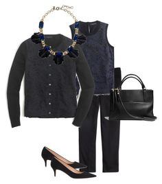 """Black and Blue"" by fashionancient ❤ liked on Polyvore featuring J.Crew and Coach"