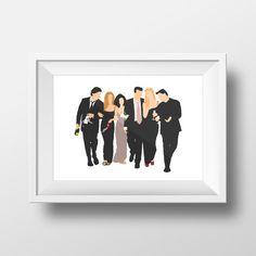 Wall Art Print FRIENDS tv show,printable art,friends theme ,monica,chandler… Serie Friends, Friends Moments, Friends Tv Show, Gilmore Girls, Monica And Chandler, Friends Poster, Tv Decor, Room Decor, Art Friend