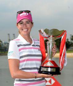 Paula Creamer wins the HSBC Women's Champions Paula Creamer, Golf Trophies, Lpga Tour, Champions Trophy, Golfers, Ladies Golf
