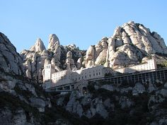 Monastery in Spain...Monserrat Hope to visit this site this year!