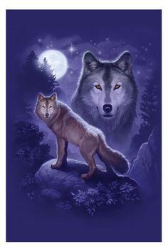 wolf fantasy pics | WOLF SPIRIT Poster, FANTASY ART BY JAMES RYMAN
