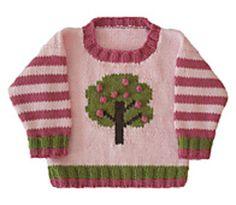 Apple Tree Crew Neck pattern by Gail Pfeifle, Roo Designs