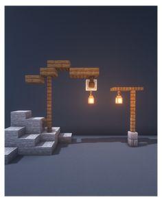 Minecraft Lampe, Minecraft Light, Cute Minecraft Houses, Minecraft Modern, Minecraft Medieval, Minecraft House Designs, Minecraft Cottage, Minecraft Building Blueprints, Minecraft Plans