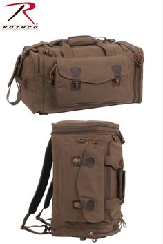 Rothco s Canvas Extended Stay Travel Duffle Bag features hideaway, padded  backpack straps to carry the dafc74a64b