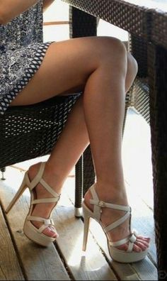 Cute shoes is everything and timeless. Make you feel gorgeous, more confident and elegant. Your perfect shoes it can be hottest pumps, booties, or stilettos. Hot Heels, Sexy Legs And Heels, Sexy High Heels, Nice Heels, Stilettos, Pumps, Stiletto Heels, Strappy Heels, Beautiful High Heels