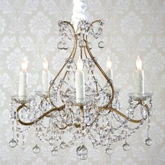 all time chandelier for walk-in-closet! Rachel Ashwell Shabby Chic Couture Simple Chandellier